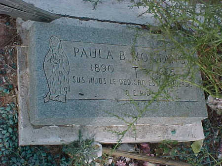 MONTANO, PAULA  B. - Gila County, Arizona | PAULA  B. MONTANO - Arizona Gravestone Photos