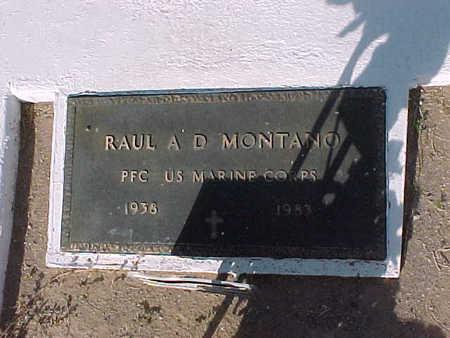 MONTANO, RAUL A.D. - Gila County, Arizona | RAUL A.D. MONTANO - Arizona Gravestone Photos