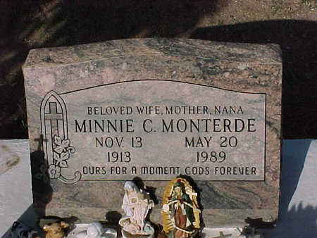 MONTERDE,  MINNIE C. - Gila County, Arizona |  MINNIE C. MONTERDE - Arizona Gravestone Photos