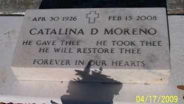 MORENO, CATALINA D. - Gila County, Arizona | CATALINA D. MORENO - Arizona Gravestone Photos