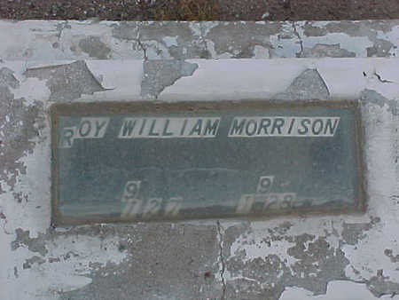 MORRISON, ROY  WILLIAM - Gila County, Arizona | ROY  WILLIAM MORRISON - Arizona Gravestone Photos