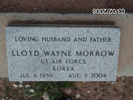 MORROW, LLOYD  WAYNE - Gila County, Arizona   LLOYD  WAYNE MORROW - Arizona Gravestone Photos