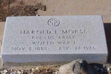 MORSE, HAROLD L. - Gila County, Arizona | HAROLD L. MORSE - Arizona Gravestone Photos