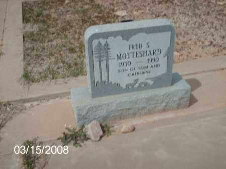 MOTTESHARD, FRED - Gila County, Arizona | FRED MOTTESHARD - Arizona Gravestone Photos