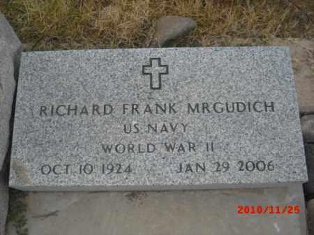 MRGUDICH, RICHARD FRANK - Gila County, Arizona | RICHARD FRANK MRGUDICH - Arizona Gravestone Photos