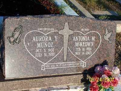 YBANEZ MUNOZ, AURORA - Gila County, Arizona | AURORA YBANEZ MUNOZ - Arizona Gravestone Photos