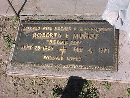 "MUNOZ, ROBERTA L. ""BOBBIE LEE"" - Gila County, Arizona | ROBERTA L. ""BOBBIE LEE"" MUNOZ - Arizona Gravestone Photos"