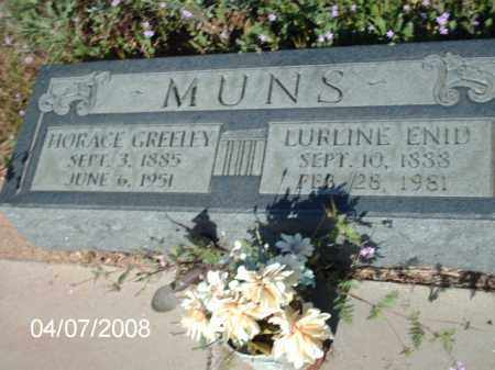 MUNS, HORACE GREELEY - Gila County, Arizona | HORACE GREELEY MUNS - Arizona Gravestone Photos