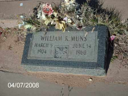 MUNS, WILLIAM K. - Gila County, Arizona   WILLIAM K. MUNS - Arizona Gravestone Photos