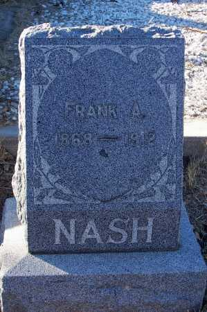 NASH, FRANK A. - Gila County, Arizona | FRANK A. NASH - Arizona Gravestone Photos