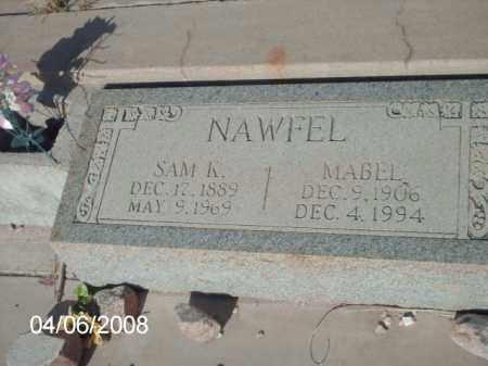 NAWFEL, MABEL - Gila County, Arizona | MABEL NAWFEL - Arizona Gravestone Photos