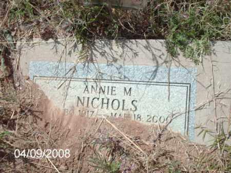 NICHOLS, ANNIE  M. - Gila County, Arizona | ANNIE  M. NICHOLS - Arizona Gravestone Photos