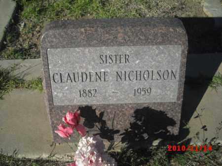 NICHOLSON, CLAUDINE - Gila County, Arizona | CLAUDINE NICHOLSON - Arizona Gravestone Photos