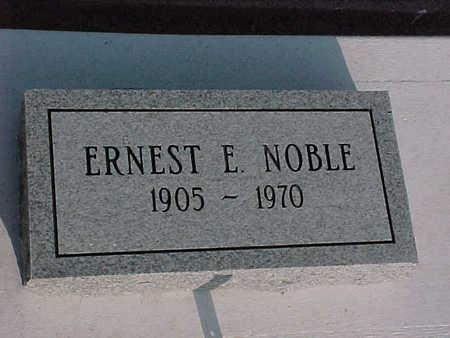 NOBLE, ERNEST  E. - Gila County, Arizona | ERNEST  E. NOBLE - Arizona Gravestone Photos