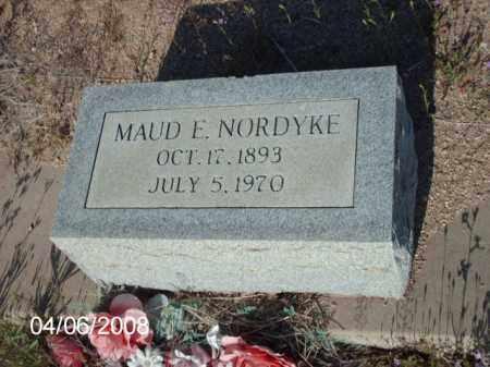 NORDYKE, MAUD E. - Gila County, Arizona   MAUD E. NORDYKE - Arizona Gravestone Photos