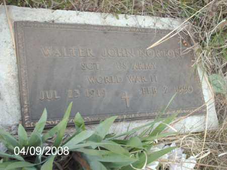 NORTON, WALTER JOHN - Gila County, Arizona | WALTER JOHN NORTON - Arizona Gravestone Photos