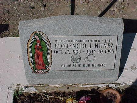 NUNEZ, FLORENCIO  J. - Gila County, Arizona   FLORENCIO  J. NUNEZ - Arizona Gravestone Photos