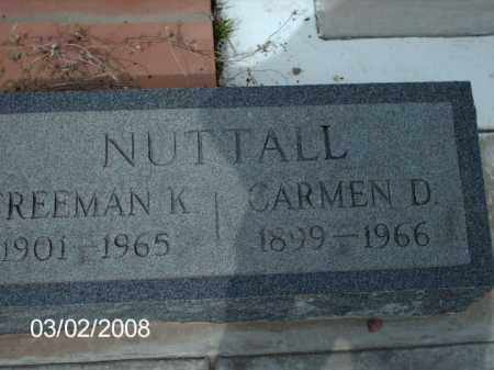NUTTALL, REEMAN - Gila County, Arizona | REEMAN NUTTALL - Arizona Gravestone Photos