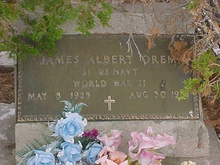 OREM, JAMES ALBERT - Gila County, Arizona | JAMES ALBERT OREM - Arizona Gravestone Photos