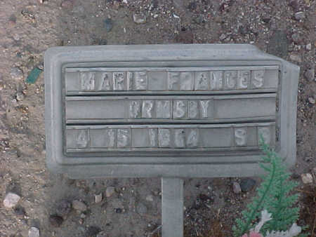 ORMSBY, MARIE  FRANCES - Gila County, Arizona | MARIE  FRANCES ORMSBY - Arizona Gravestone Photos