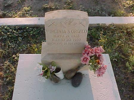 OROZCO, VIRGINIA  S. - Gila County, Arizona   VIRGINIA  S. OROZCO - Arizona Gravestone Photos