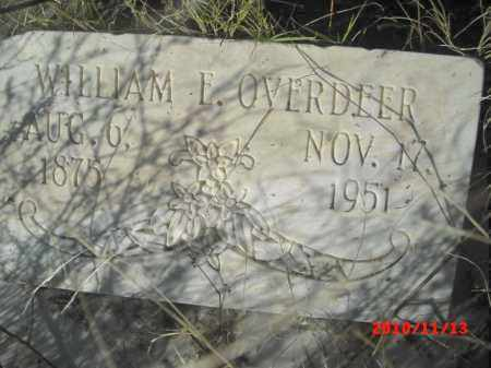 OVERDEER, WILLIAM E. - Gila County, Arizona | WILLIAM E. OVERDEER - Arizona Gravestone Photos