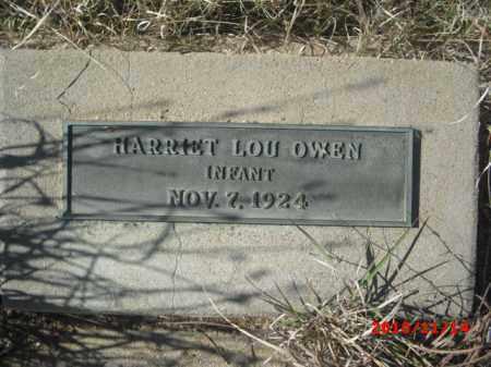 OWEN, HARRIET LOU - Gila County, Arizona | HARRIET LOU OWEN - Arizona Gravestone Photos