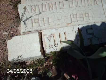 OZUNA, ANTONIO - Gila County, Arizona   ANTONIO OZUNA - Arizona Gravestone Photos