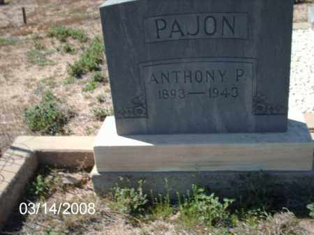 PAJON, ANTHONY - Gila County, Arizona | ANTHONY PAJON - Arizona Gravestone Photos