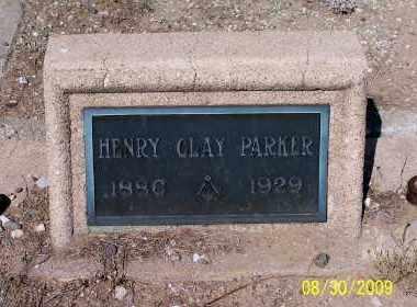 PARKER, HENRY CLAY - Gila County, Arizona | HENRY CLAY PARKER - Arizona Gravestone Photos