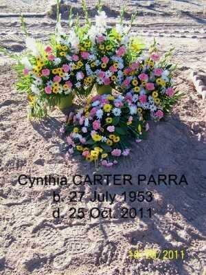 CARTER PARRA, CYNTHIA - Gila County, Arizona | CYNTHIA CARTER PARRA - Arizona Gravestone Photos