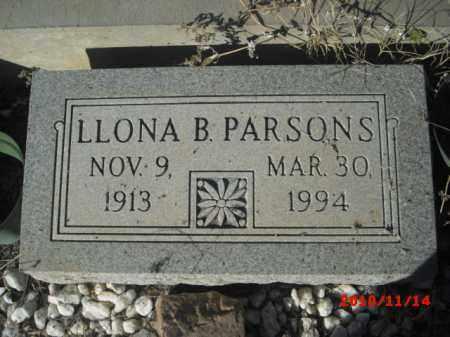 PARSONS, LLONA B. - Gila County, Arizona | LLONA B. PARSONS - Arizona Gravestone Photos