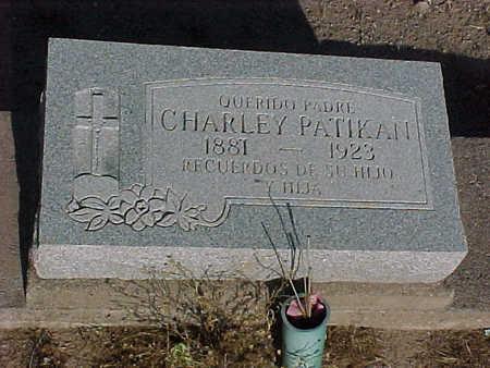 PATIKAN, CHARLEY - Gila County, Arizona   CHARLEY PATIKAN - Arizona Gravestone Photos