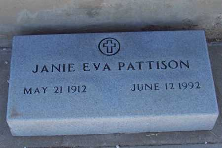 PATTISON, JANIE EVA - Gila County, Arizona | JANIE EVA PATTISON - Arizona Gravestone Photos