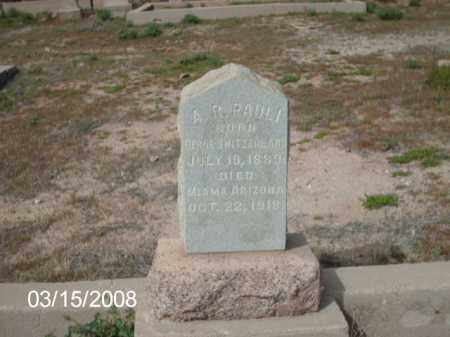 PAULI., A - Gila County, Arizona | A PAULI. - Arizona Gravestone Photos