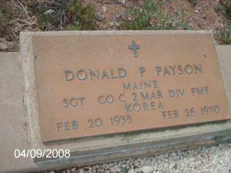 PAYSON, DONALD P. - Gila County, Arizona | DONALD P. PAYSON - Arizona Gravestone Photos