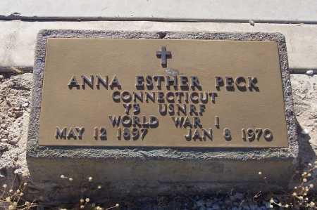 PECK, ANNA ESTHER - Gila County, Arizona   ANNA ESTHER PECK - Arizona Gravestone Photos