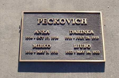 PECKOVICH, DARINKA - Gila County, Arizona | DARINKA PECKOVICH - Arizona Gravestone Photos