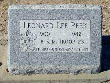 PEEK, LEONARD LEE - Gila County, Arizona   LEONARD LEE PEEK - Arizona Gravestone Photos