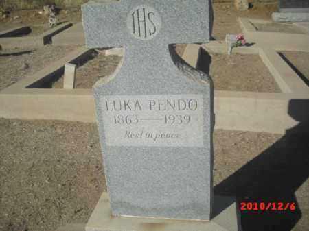 PENDO, LUKA - Gila County, Arizona | LUKA PENDO - Arizona Gravestone Photos