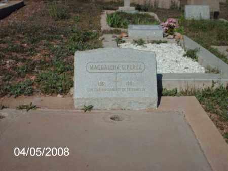 PEREZ, MAGDALENA G. - Gila County, Arizona | MAGDALENA G. PEREZ - Arizona Gravestone Photos