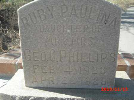 PHILLIPS, RUBY PAULINA - Gila County, Arizona | RUBY PAULINA PHILLIPS - Arizona Gravestone Photos