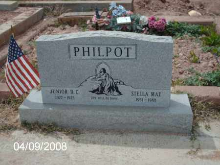 PHILPOT, JUNIOR D. C. - Gila County, Arizona | JUNIOR D. C. PHILPOT - Arizona Gravestone Photos