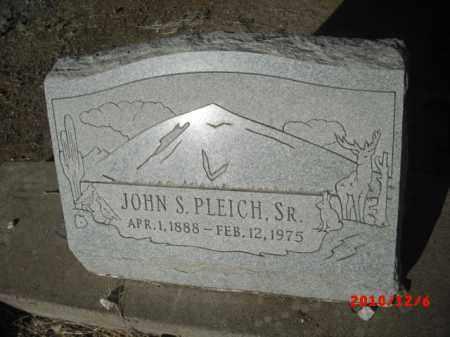 PLEICH, JOHN S. - Gila County, Arizona | JOHN S. PLEICH - Arizona Gravestone Photos