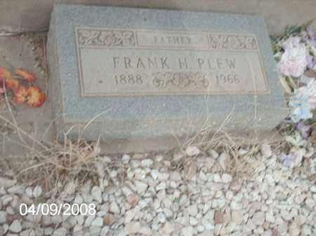 PLEW, FRANK H. - Gila County, Arizona | FRANK H. PLEW - Arizona Gravestone Photos