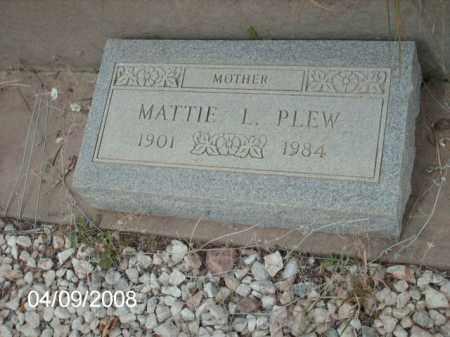 PLEW, MATTIE L. - Gila County, Arizona | MATTIE L. PLEW - Arizona Gravestone Photos