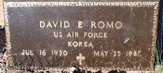 ROMO, DAVID E. - Gila County, Arizona | DAVID E. ROMO - Arizona Gravestone Photos