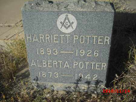 POTTER, HARRIETT - Gila County, Arizona | HARRIETT POTTER - Arizona Gravestone Photos
