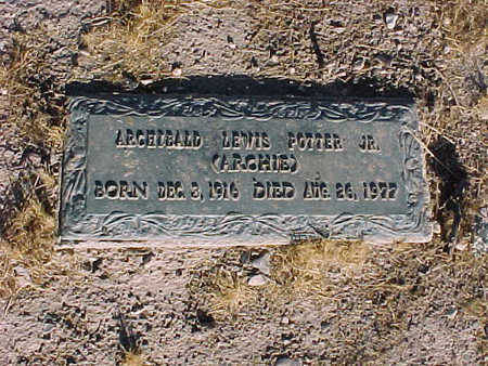 POTTER, ARCHIBALD LEWIS, JR. - Gila County, Arizona | ARCHIBALD LEWIS, JR. POTTER - Arizona Gravestone Photos