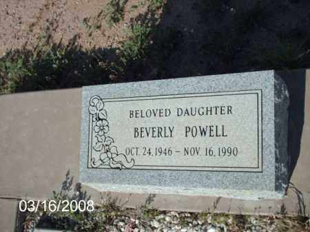 POWELL, BEVERLY - Gila County, Arizona | BEVERLY POWELL - Arizona Gravestone Photos
